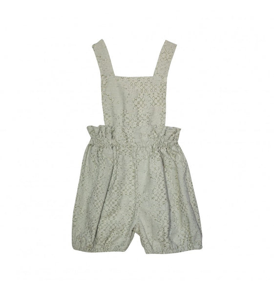 Yellow Pelota Simona Playsuit jacquard