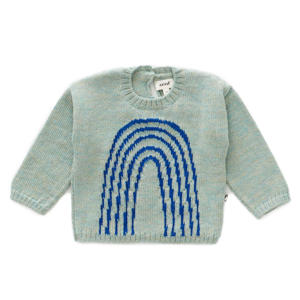 OEUF NYC Rainbow Sweater-Ocean/Electric Blue