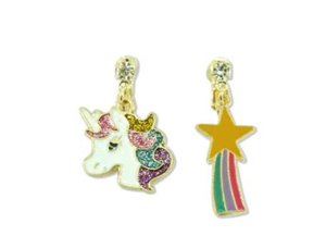 MINISTA RAINBOW UNICORN EARRINGS CLIPS