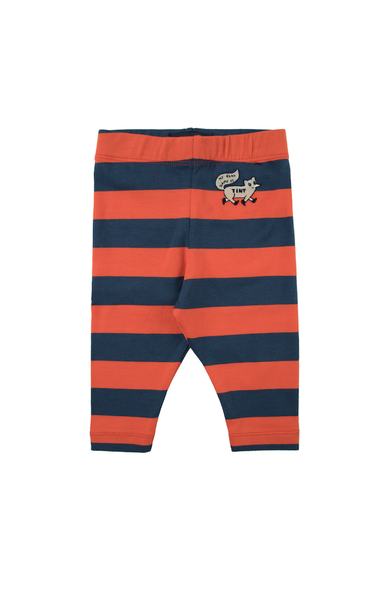 "TINYCOTTONS ""TINY FOX"" STRIPES PANT *light navy/red*"