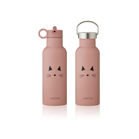 LIEWOOD Neo Water Bottle - 500ml - Cat rose