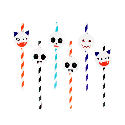 My Little Day 12 paper straws - mini monsters
