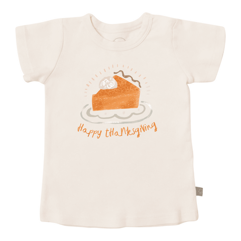 Finn + Emma graphic tee thanksgiving pie