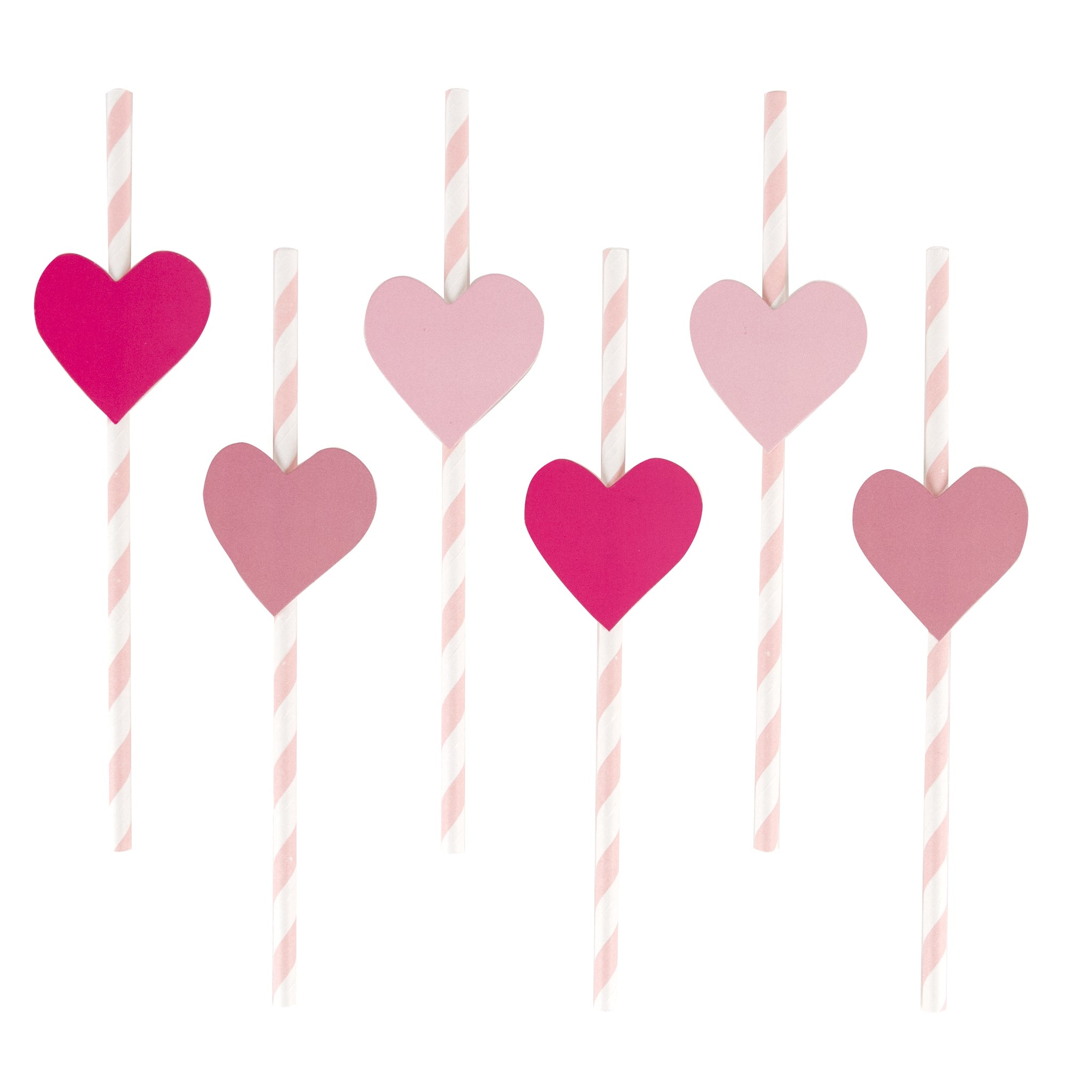 My Little Day 12 paper straws - pink heart