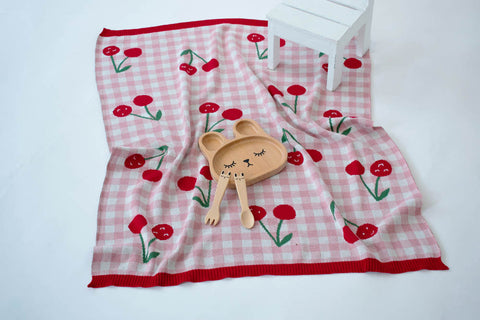 INDUS DESIGN Cheeky Cherries Blanket