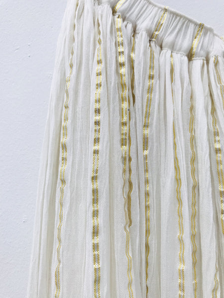 DOLLY by Le Petit Tom ® JEWELER'S CRYSTALS gold stripe maxi skirt