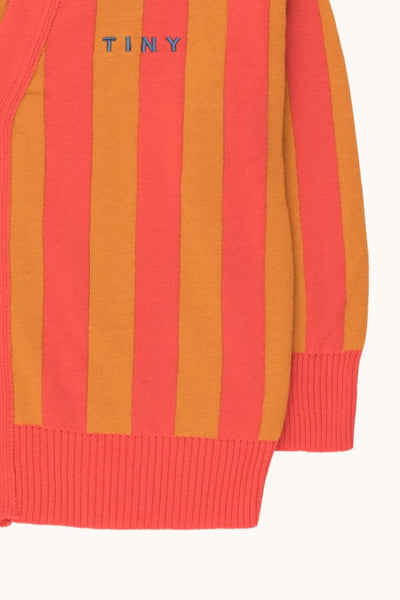 TINYCOTTONS STRIPES CARDIGAN *red/brick* KIDS