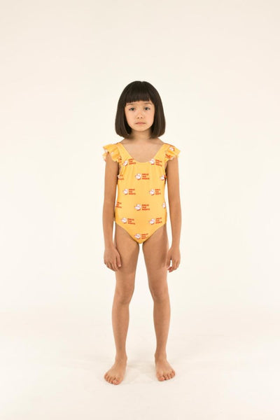 "TINYCOTTONS ""DOGS"" FRILLS SWIMSUIT"