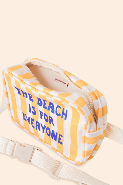 TINYCOTTONS  THE BEACH IS FOR EVERYONE FANNY BAG *yellow/light