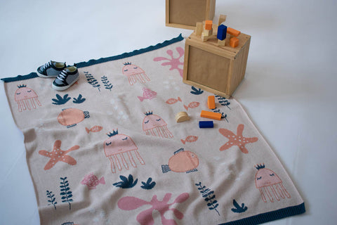 INDUS DESIGN Under the Sea Girl Blanket