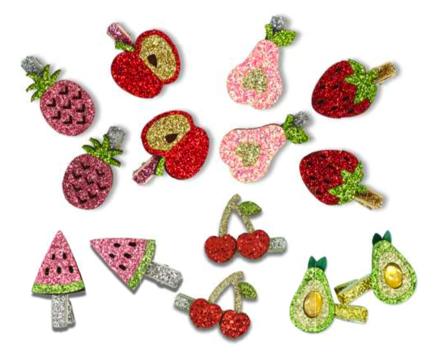 MINISTA MINI GLITTER FRUIT HAIR CLIP