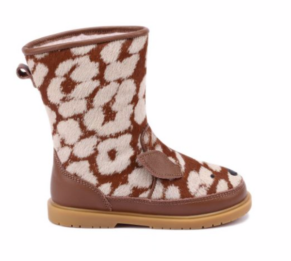 DONSJE WADUDU EXCLUSIVE LINING BAMBI BOOTS BROWN SPOTTED PONY HAIR