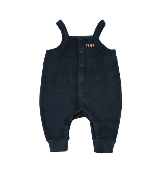 "TINYCOTTONS ""PRETZEL RIDE"" ONE-PIECE *navy/camel*"