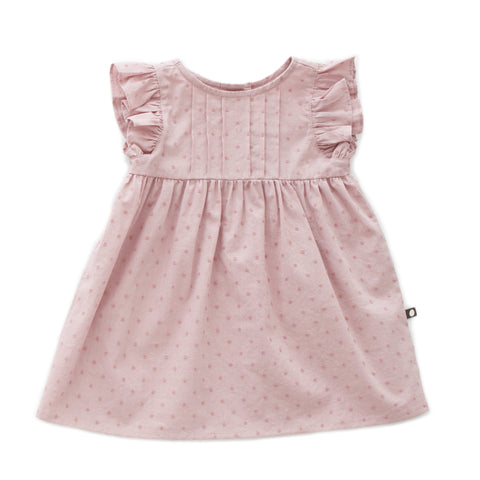 OEUF NYC Swiss Dot Dress Mauve