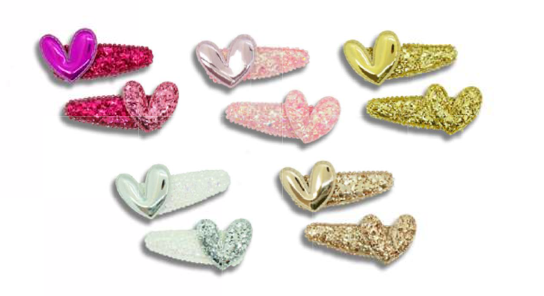 MINISTA LOVE HEART HAIR CLIP