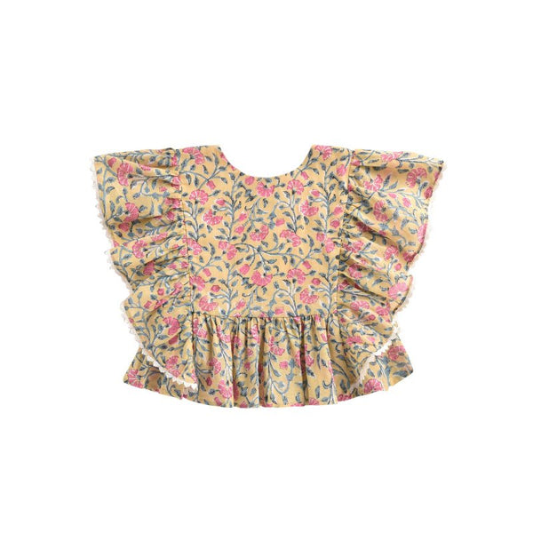 LOUISE MISHA Top Izia Lemon Flowers BABY AND KIDS