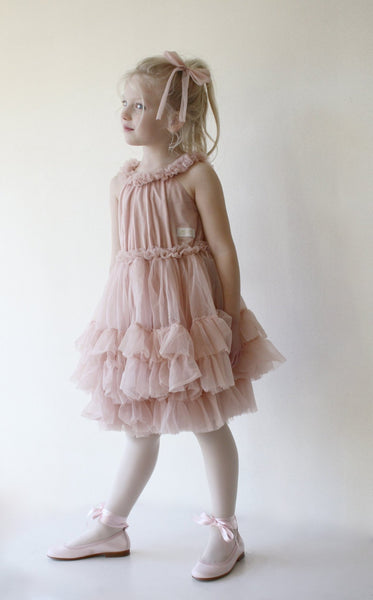 DOLLY BY LE PETIT TOM ® DOLLY RUFFLED CHIFFON DANCE DRESS BALLET PINK