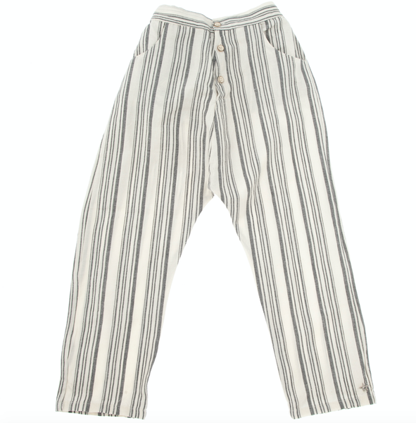 TOCOTO VINTAGE  STRIPED PYJAMA STYLE TROUSERS WITH FRONT POCKETS