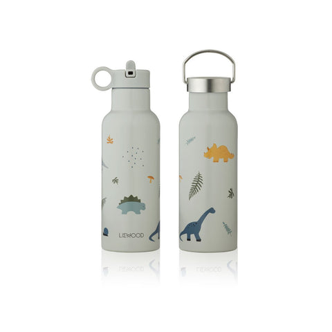 LIEWOOD  Neo Water Bottle - 500ml - Dino dove blue mix
