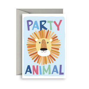 Sprout and Sparrow Party animal Birthday Card