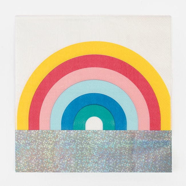 My Little Day paper napkins - rainbow
