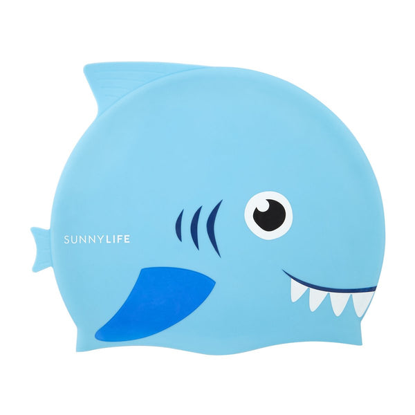 SUNNYLIFE SHAPED SWIMMING CAP 3-9 | SHARK