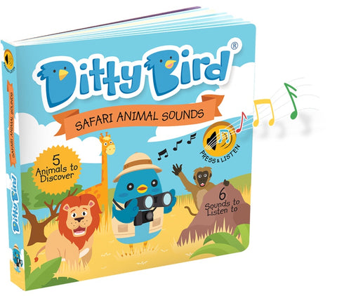 Ditty Bird Safari Animal Sounds Board Book