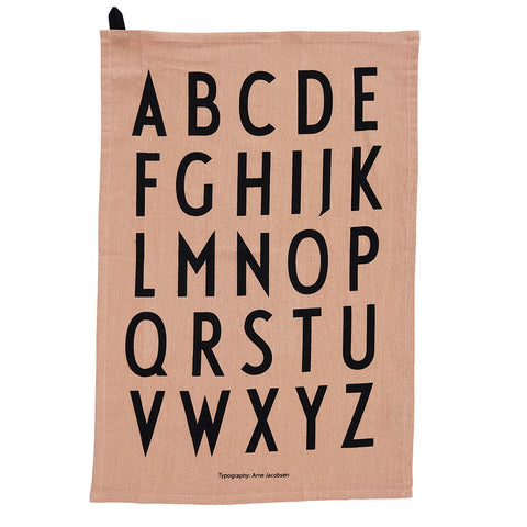 Design Letters Tea Towel nude