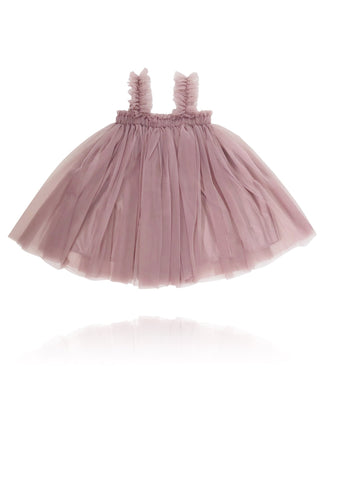 DOLLY BY LE PETIT TOM ® TUTU DRESS BEACH COVER UP MAUVE