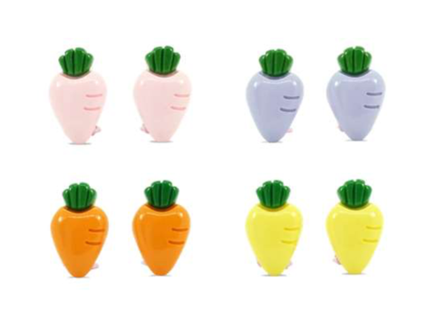 MINISTA CARROT CLIP ON EARRINGS CLIPS