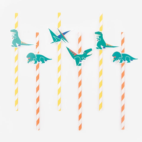 My Little Day paper straws - dinosaur