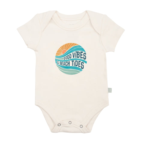 FINN + EMMA BABY GRAPHIC BODYSUIT good vibes