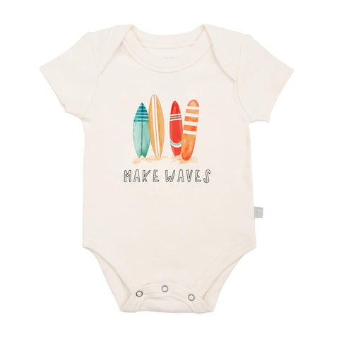 FINN + EMMA BABY GRAPHIC BODYSUIT MAKE WAVES