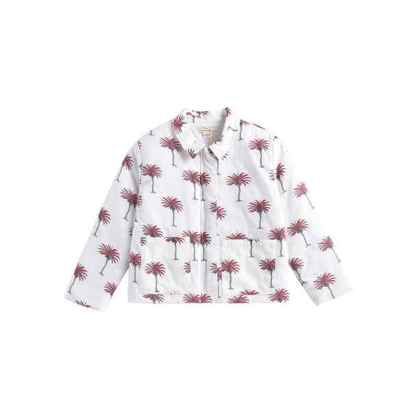 LOUISE MISHA BOYS Jacket Ariou White Tropical BABY AND KIDS