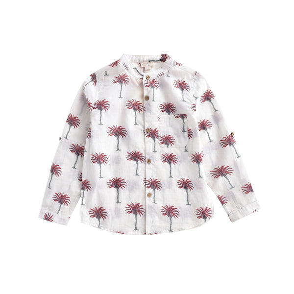 LOUISE MISHA BOYS Shirt Amod White Tropical BABY AND KIDS
