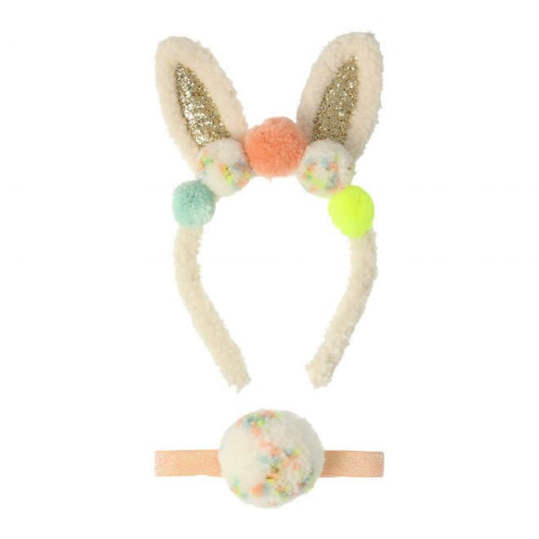 MERI MERI Pompom Bunny Ear & Tail Dress Up Kit