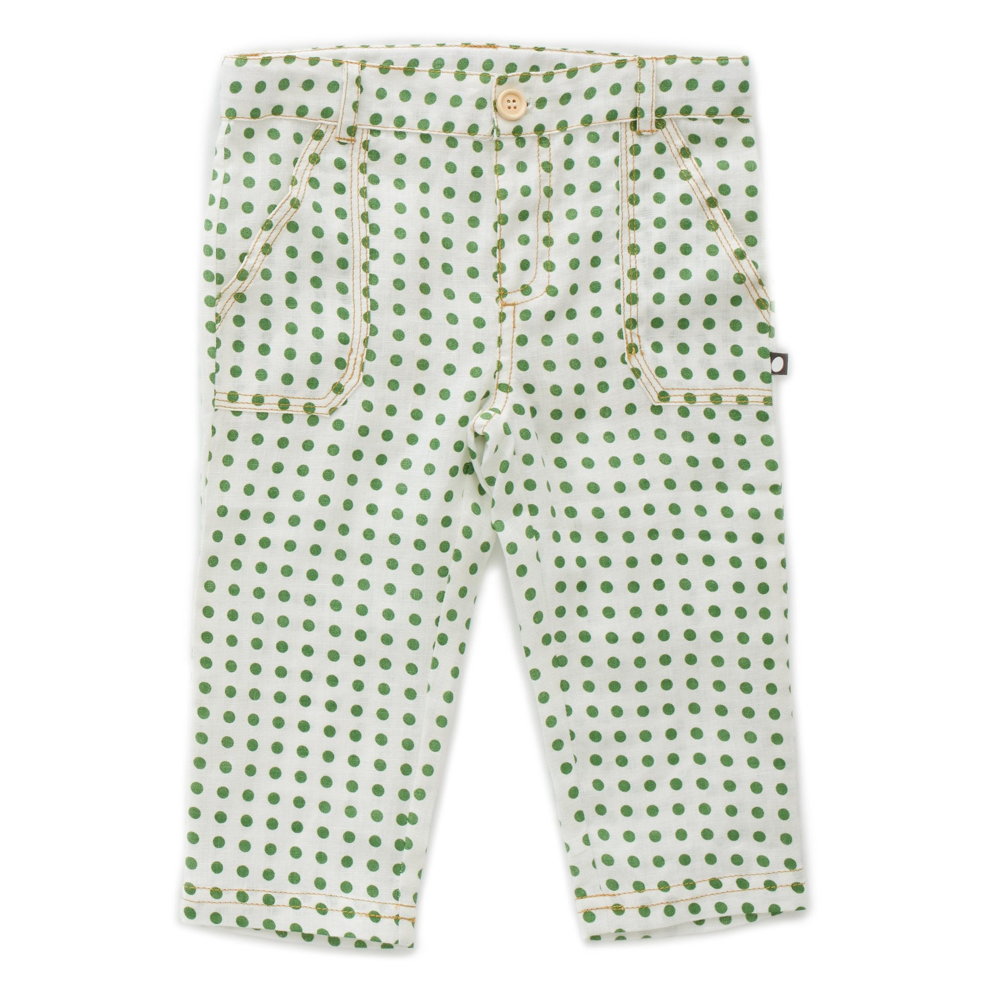 OEUF NYC Cargo Pant Green Dots