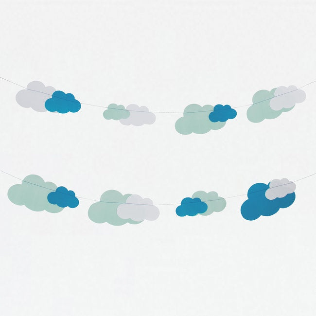 My Little Day  paper garland - clouds