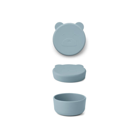 LIEWOOD  Carrie Snack Box Small - Mr bear sea blue