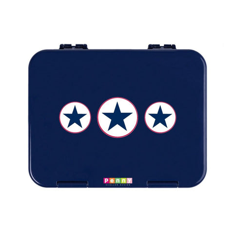Penny Scallan Design Bento Box Large Navy Star