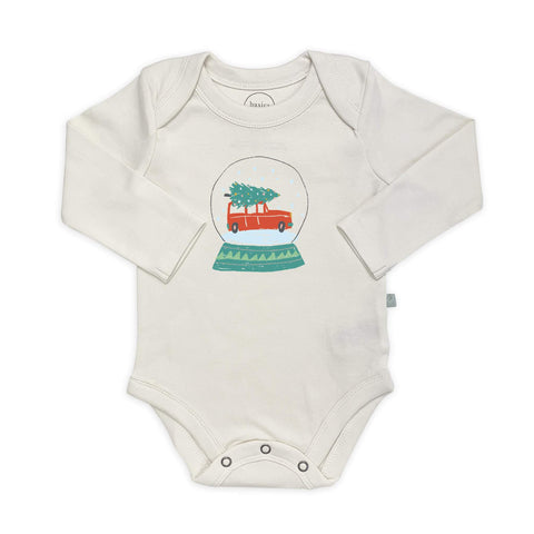 Finn + Emma graphic bodysuit snow globe