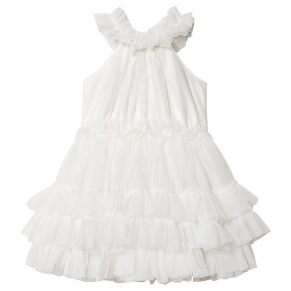 DOLLY BY LE PETIT TOM ® DOLLY RUFFLED CHIFFON DANCE DRESS OFF WHITE