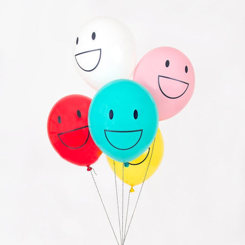 My Little Day tattooed balloons - happy faces