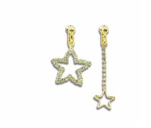 MINISTA GOLDEN STAR EARRINGS CLIPS