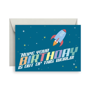Sprout and Sparrow Out of this world Birthday Card