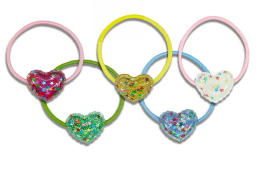 MINISTA BRIGHT HEART HAIR TIE