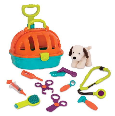 Battat Toys Pup & Go Rolling Pet Carrier