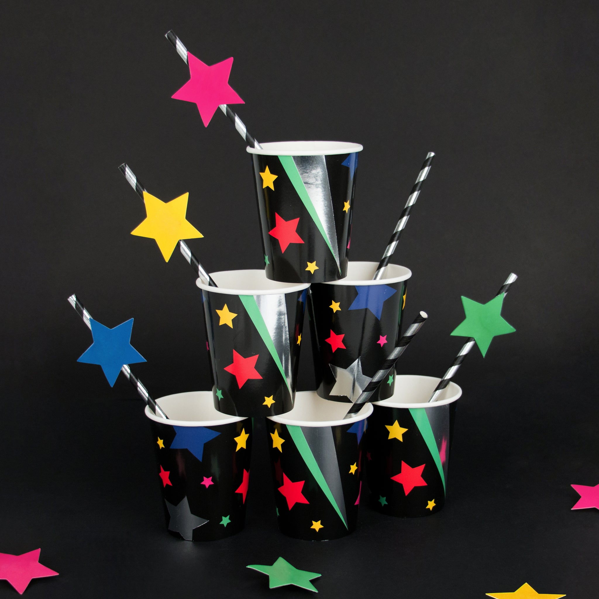 MY LITTLE DAY 8 paper cups - disco stars