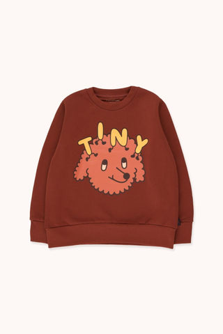 "TINYCOTTONS ""TINY DOG"" SWEATSHIRT *dark brown/sienna*"