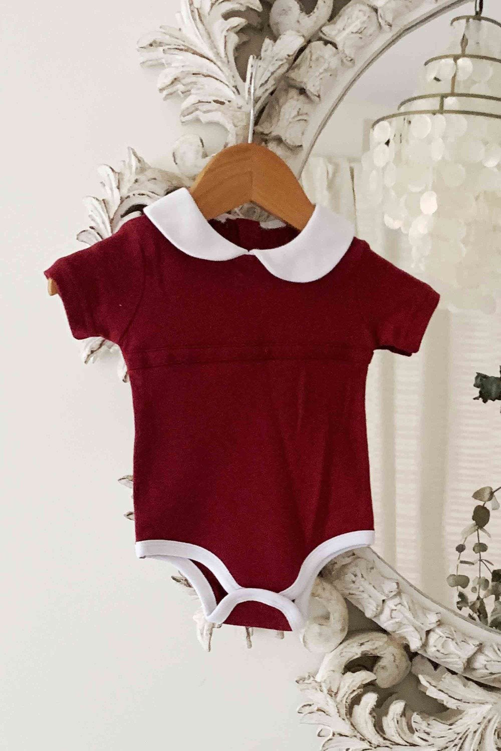 BAMBINO & BUNDLES Peter Pan Bodysuit - Wild Berry